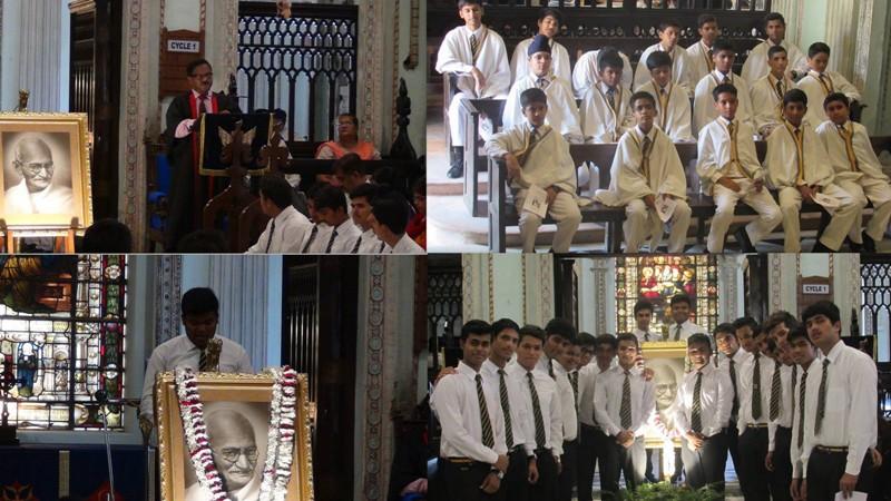 Collage Gandhi Jayanti