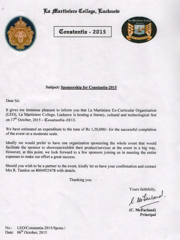 Sponsorshp Letter for Constantia 2015