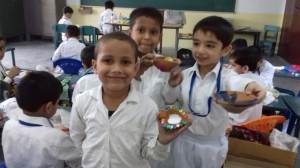 Junior School Diya Making  36
